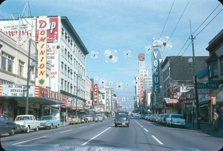 North on Granville St.1958 by reksten ernie h