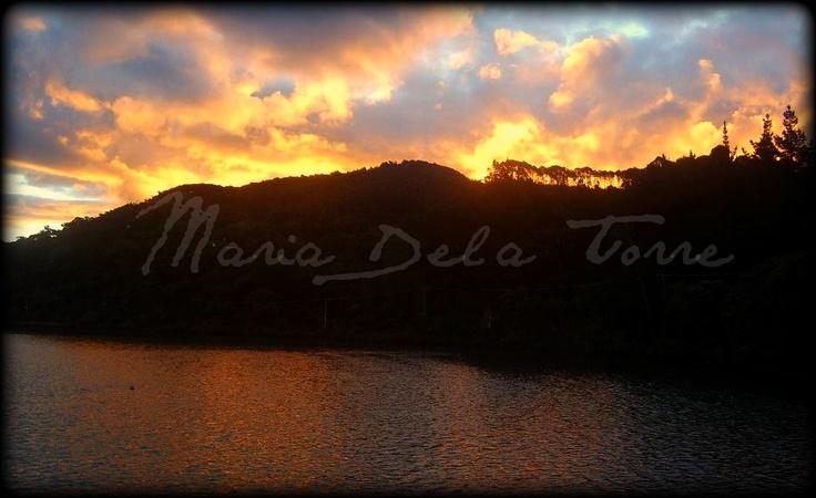 Beautiful sunset at whangapoa