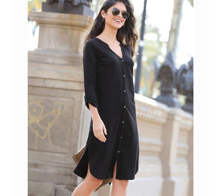 Košeľové šaty s gombíkmi a dlhými rukávmi   modino.sk #ModinoSK #modino_sk #modino_style #style #fashion #autumn #fall #bestseller #jesen