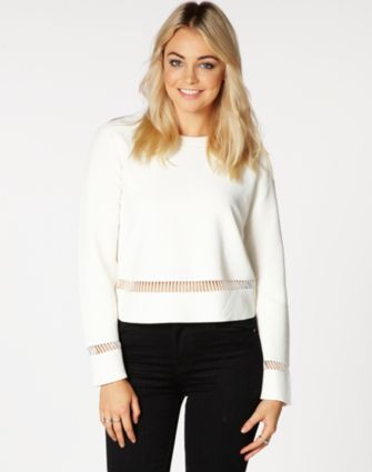 Panel Detail Knit Sweater WAS $49.99 NOW $32.00 http://richgurl.com/linkout/1346193