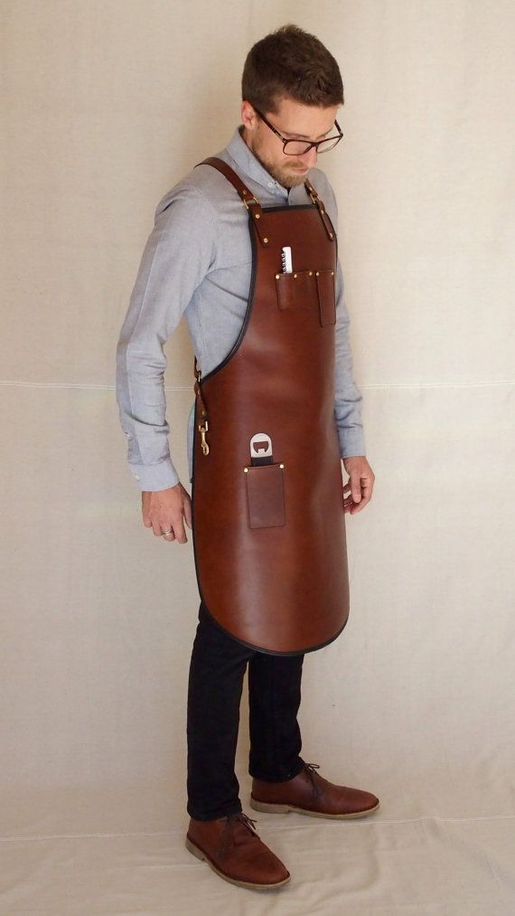 Handcrafted leather apron Premium Heavy Duty by BlueandGrae
