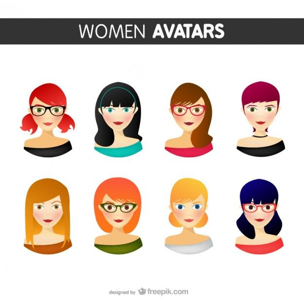 Women avatars pack Freepik-People-pin-13