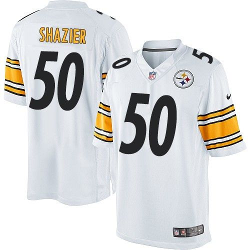 20ce8652 ... clearance mens jersey nike limited ryan shazier white youth jersey  pittsburgh steelers 50 nfl road dd321