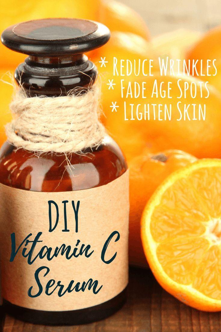 This DIY vitamin C serum supports aging skin to keep it looking fresh, lightening and brightening your skin! #antiaging #faceserum #AntiWrinkle #antiwrinkleserum #diyskincare #carrieroil #moisturizing  #skincare #Rejuvenate