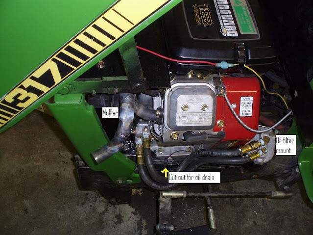 John Deere 317 repowered with a Vanguard engine
