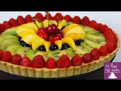 Tarta de frutas frescas con crema pastelera - YouTube