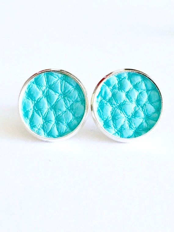 Turquoise leather earrings Faux vegan leather aqua blue  #turquoise #turquoiseearrings #leatherearrings #earrings #studearrings #rubenabird #aqua #colourful #australianseller #australia #women #style #pretties #iwantthis #onlineshopping