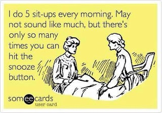 Well, actually, I could probably hit it a few more. But I worry about working out so hard so early..