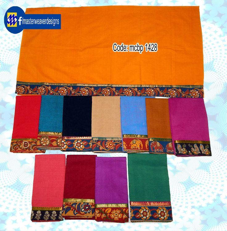 Mangalagiri #blouse is designed using #kalamkari border and mangalagiri Nizam border patching Code: mcbp 1428 Price: 260/- (bulk buyers / Wholesale / boutiques / Retail shops for trade inquiries please contact our Whatsapp no 8801302000)