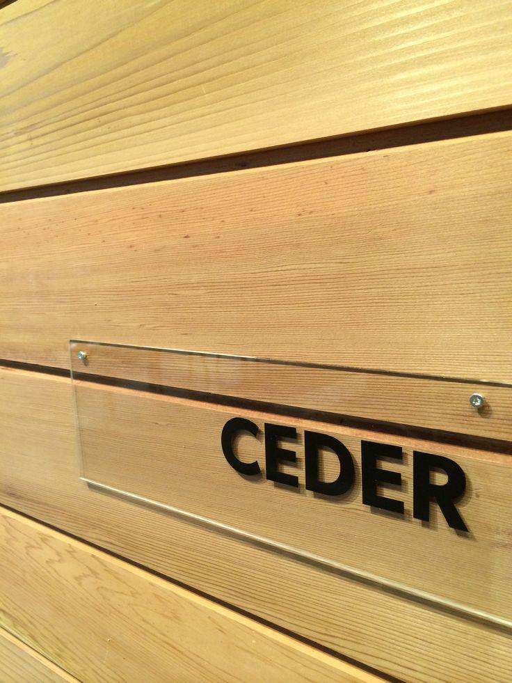 Trä & Teknik Gothenburg 2014. Cedar wood exterior cladding.