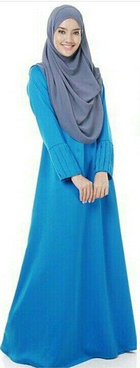 Grey & blue ……jubah @qallysta_hq