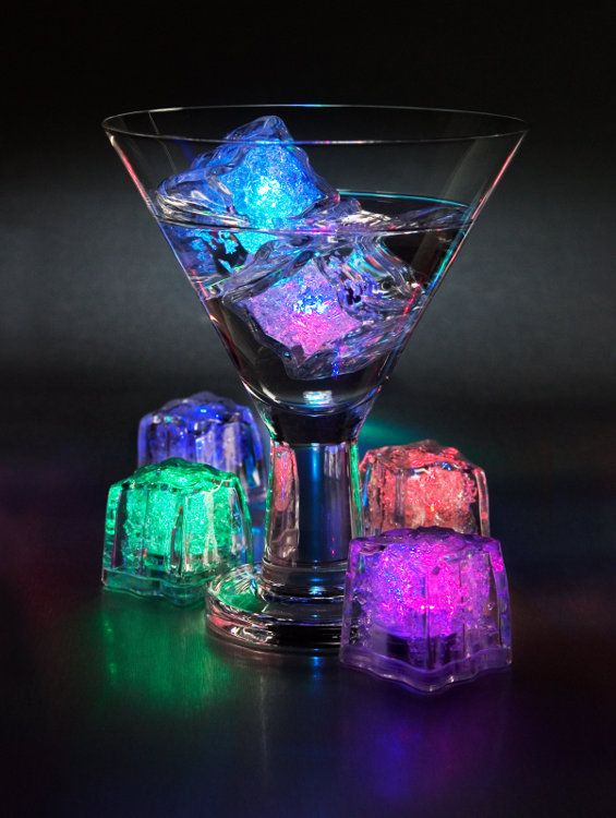 Self-luminous ice cubes