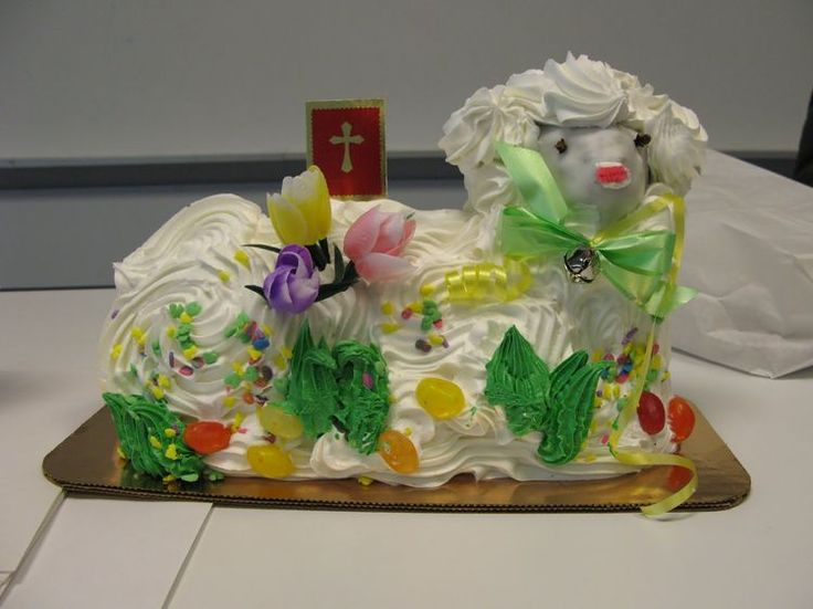 Easter2 nailed it lamb cake easter cookie cake cake