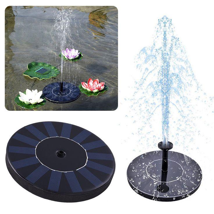 Solar Power Fountain Panel Garden Water Pump Irrigation Tools for Birdbath Pool Watering Wide Irrigation Pumps Mayitr #Affiliate