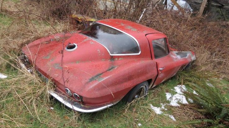 1966 Corvette Sting Ray Sport Coupe in a field