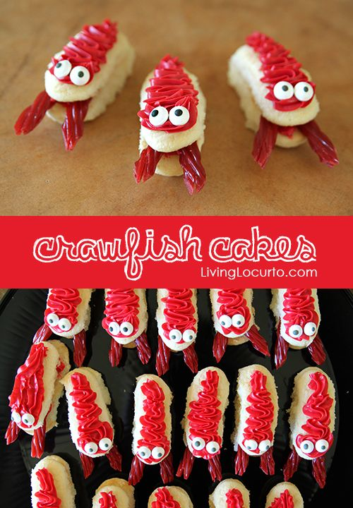Cute & Easy Crawfish Cakes! Fun Food Idea for a Crawfish Boil by Amy Locurto. LivingLocurto.com