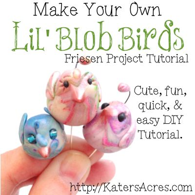 Little Sculpted Birds TutorialClay Projects, Clay Ideas, Fimo Sugarcraft Clay, Clay Blob, Birds Tutorials, Clay Tutorials, Blob Birds, Clay Art, Crafts