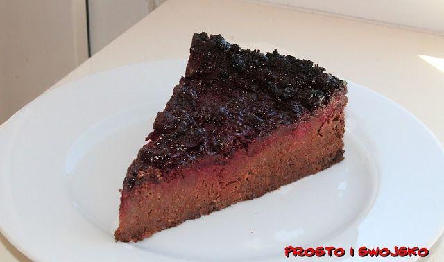 Ciasto Czekoladowe Z Wisniami Bez Jajek Thermomix Desserts Food Meatloaf