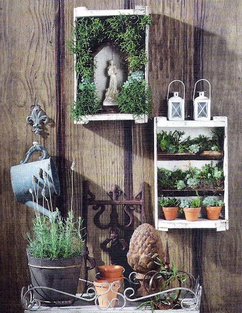 Vertical garden in a box
