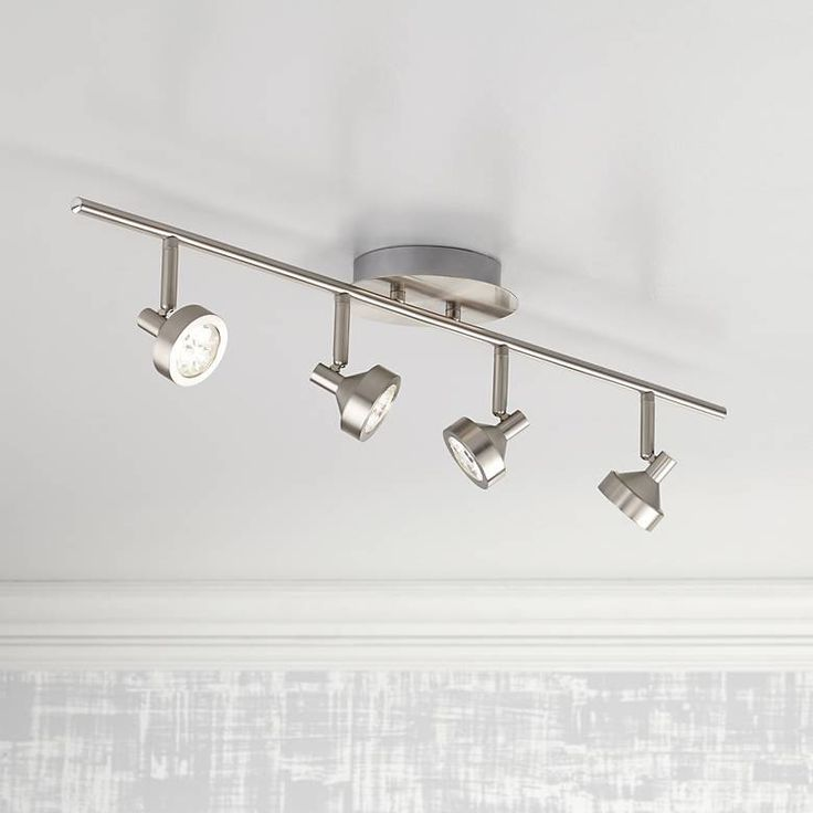 Pro Track Tilden 4-Light Brushed Nickel LED Ceiling Light