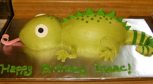 lizard birthday cake