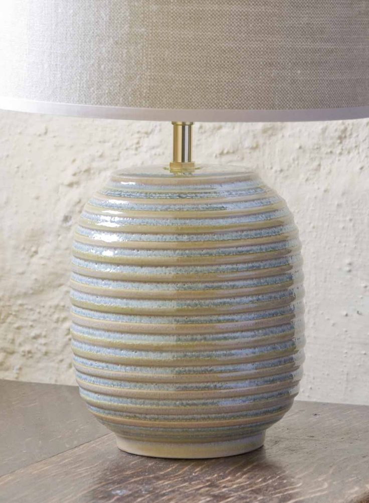 Lichen ridged small table lamp