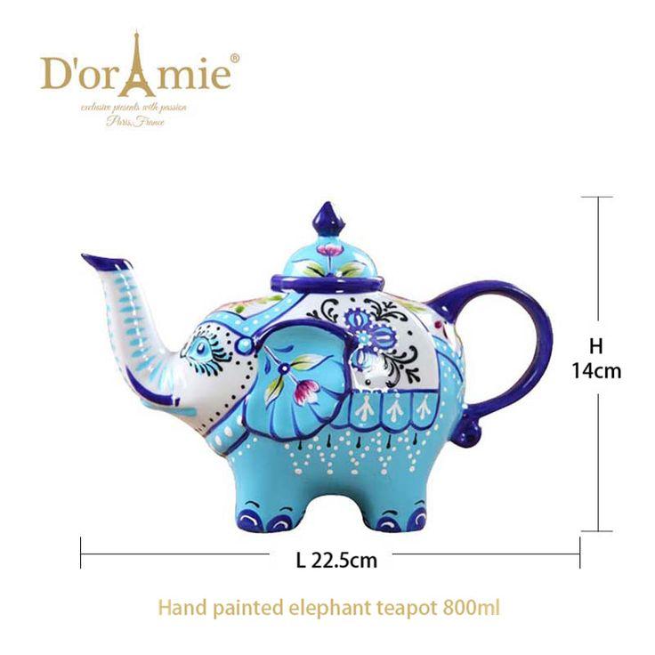 personalized porcelain elephant teapot, unique teapots
