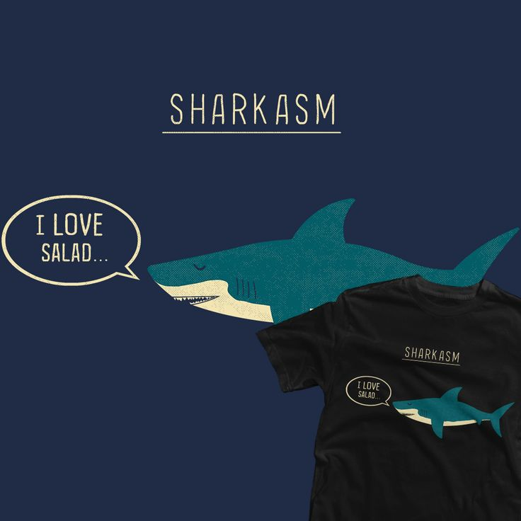 "DAILY TEE | ""Sharkasm"" by TeoZed is only $11 today on TeeFury!"
