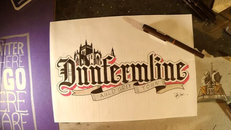 Time Lapse Thursday: A Hand Lettering Tribute to Dunfermline - twohundre...