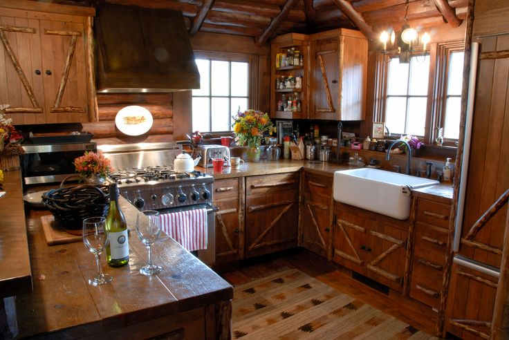304 best images about cabin interiors on pinterest Cabin kitchen decor