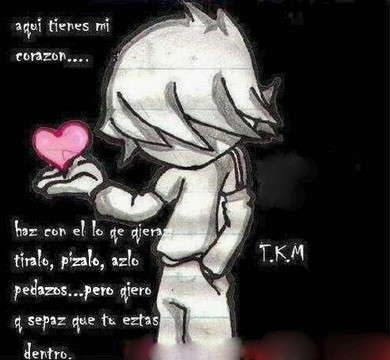 Love Quotes and Sayings for Him in spanish for facebook | Sad emo poems in Spanish
