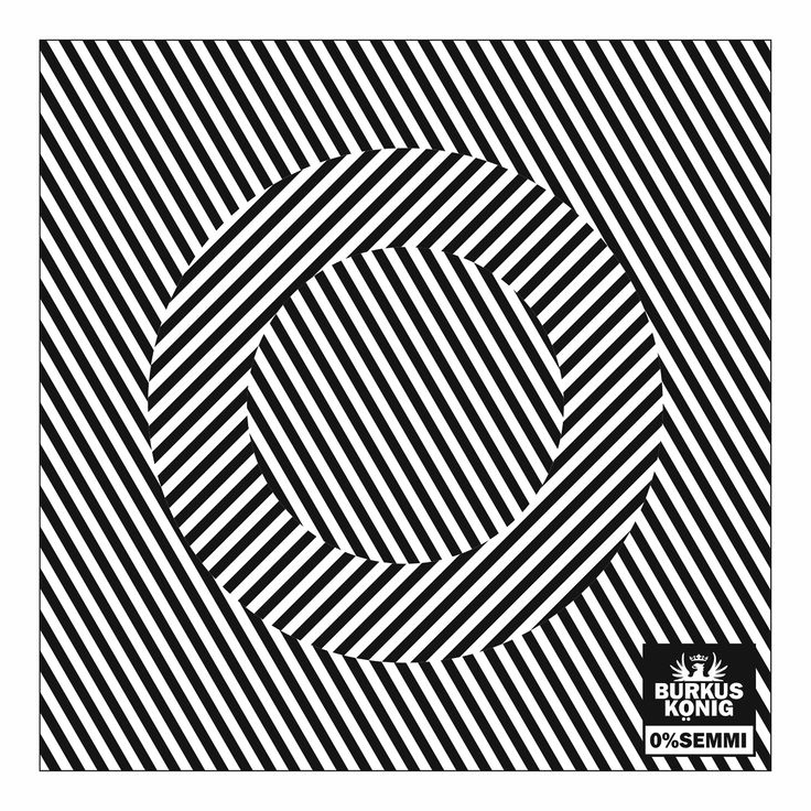 The first version of sleeve cover of Burkus König's '0% SEMMI' EP from Csípős, inspired by Victor Vasarely. We were a bit afraid of the epilleptic impact of that graphic, therefore decided to pick a less intresting, but much safer cover design.