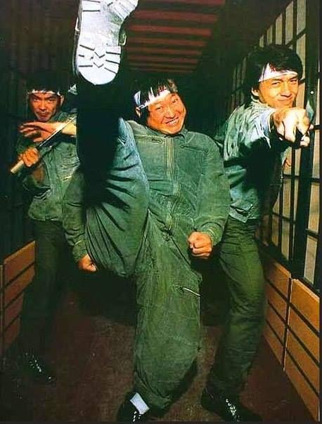 Yuen Biao, Sammo Hung, and Jackie Chan