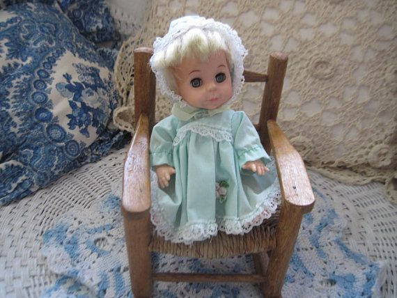 1980 Vintage Playmates Small Doll in Darling Blue Dress and