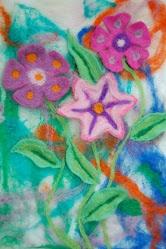 Handmade Wet felting flower picture.  More at www.indigo-blue-designs.blogspot.co.uk