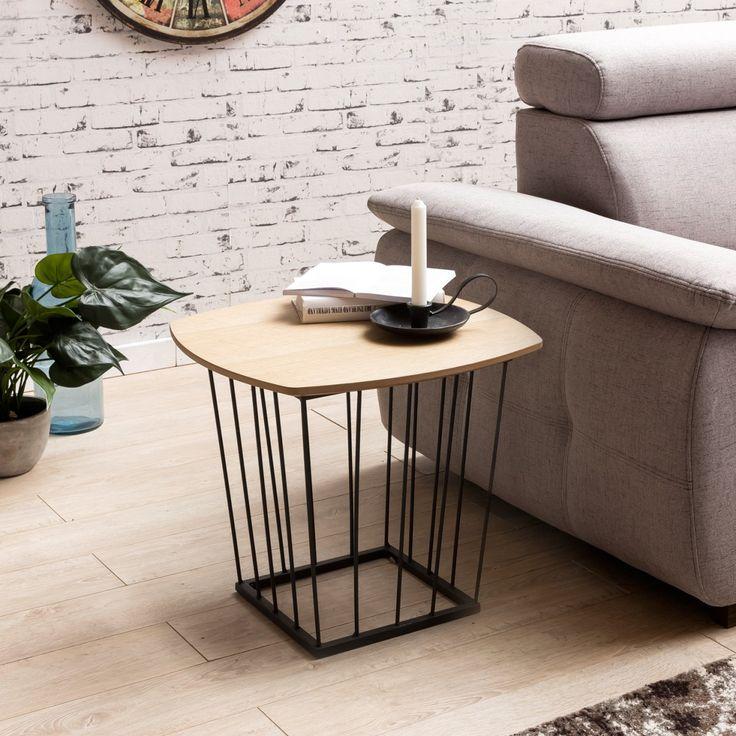 Fantastisch Wohnling Beistelltisch Im Skandinavischen Einrichtungsstil WL5.225 Eiche  #Wohnzimmer #Dekoration #Metall #