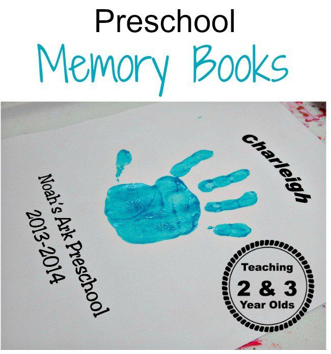 Preschool Memory Book - Teaching 2 and 3 Year Olds