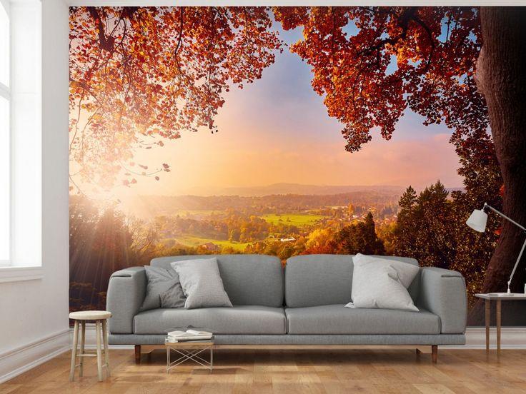 Couleurs profondes + paysage pittoresque = papier peint unique #papierpeint #papierspeints #paysage #homedecor #bimago #paysages #décorations #décomurale #wallpapers