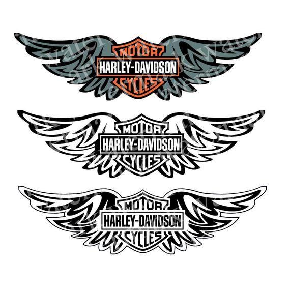 picture about Printable Harley Davidson Logo called Harley Davidson svg Harley Davidson emblem clipart Motorbike