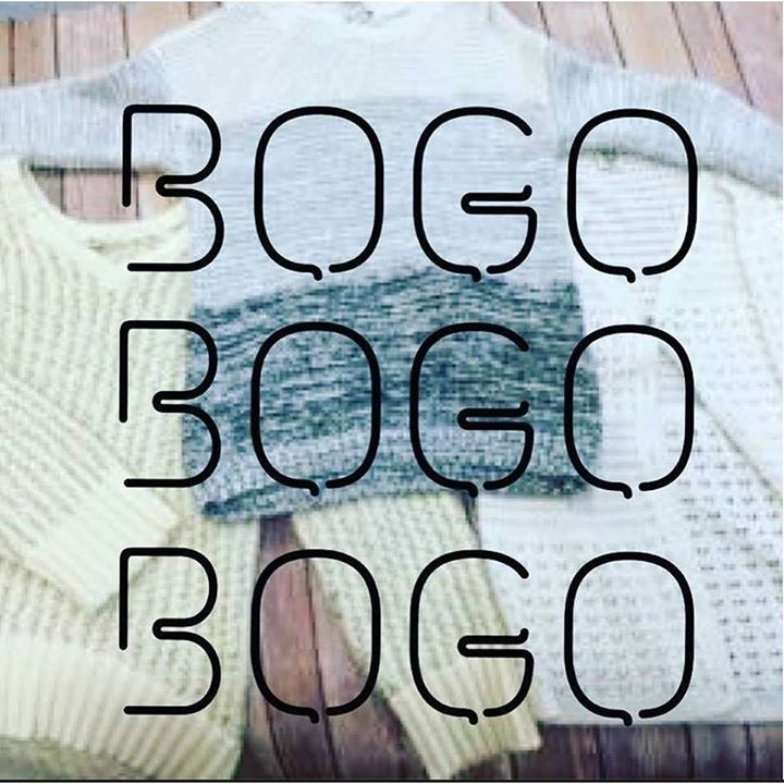 Join us for our BOGO FREE sweater sale this Saturday and Sunday only!!! Cardigans pullovers knits & more! You do not want to miss this! #bogo #sweaters #sale #sweatersale (Discounted sweater must be of equal or lesser value all mark downs are final sale) http://ift.tt/2dqCpUb - http://ift.tt/1HQJd81
