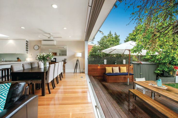 How amazing to have the whole rear of the house open to the garden ..... 112 Edgevale Road, KEW