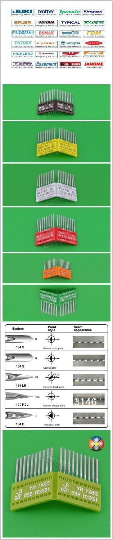 500 шт. промышленные швейные машины иглы резка точка Dp1 Dp * 1 для Juki типичный для Brother Janome Siroba Kancai