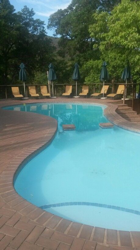 Our pool at Hazyview Cabanas