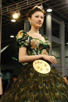 Luly Yang Peacock Dress