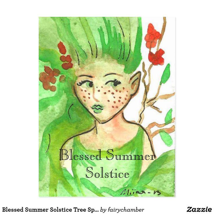 Blessed Summer Solstice Tree Spirit Postcard