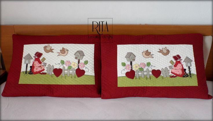 #patchwork #aplike #quilt #pillowcases #handmade #quilting