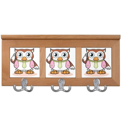 Cute wise owl coat rack zazzle pinterest coats owl Cute coat hooks