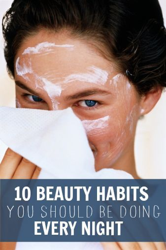 10 Beauty Habits You Should Be Doing Every Night to wake-up to beautiful skin and hair. - repair split ends overnight, treat chapped lips, soften cuticles, reduce dark circles, soft feet and much moreh