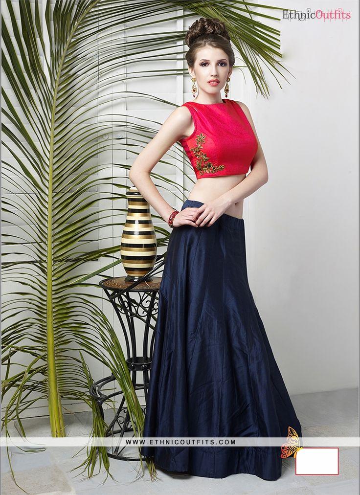 Lively Navy Blue Designer Lehenga Choli
