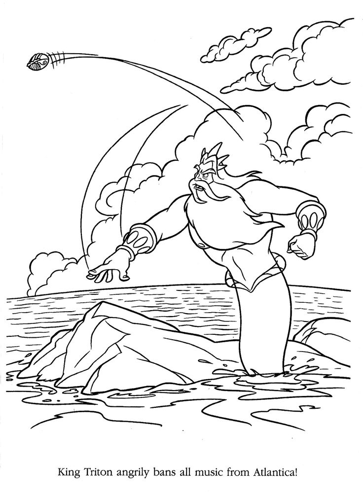 71 best The Little Mermaid 13 Disney Coloring Pages